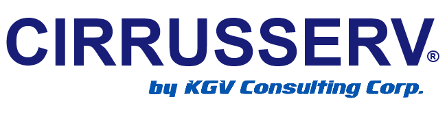 logo CIRRUSSERV by KGV Consulting Corp.